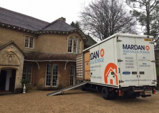 Mardan removal van carrying out a removal at a country house in Bath
