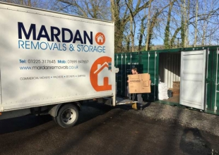 Unloading a removal to be placed into storage at our base on Lower Bristol Road, Bath.