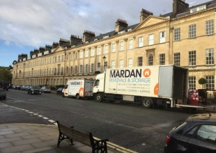 Doing a Removal on Bath's famous Pulteney Street