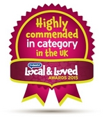 Highly Commended in Removals and Storage Category, Best of Bath Local and Loved Award