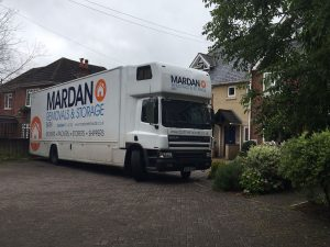 Mardan Removal And Storage Lorry doing a removal from Southampton, to Bath, Somerset